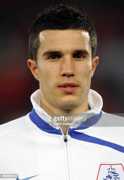 Robin van Persie of the Netherlands poses prior the international friendly match between Austria and Netherlands at the Ernst Happel stadium on March...