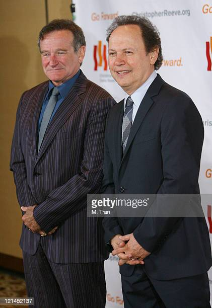 Robin Williams and Billy Crystal during 3rd Annual Los Angeles Gala for the Christopher and Dana Reeve Foundation at Century Plaza Hotel in Century...