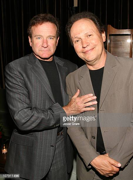 Robin Williams and Billy Crystal during Kevin Spacey Announces the Launch of the New Triggerstreetcom and Their Latest Venture with Budweiser Select...