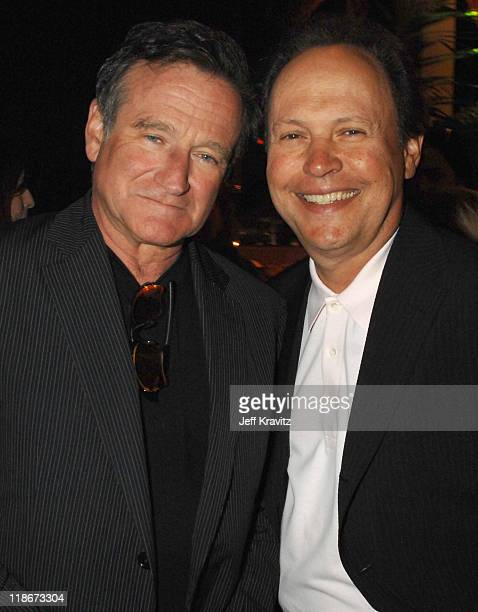 Robin Williams and Billy Crystal during 'License To Wed' Los Angeles Premiere After Party in Los Angeles California United States