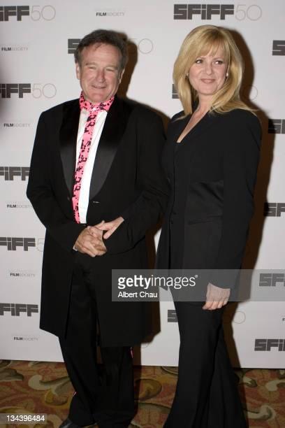 Robin Williams and Bonnie Hunt during 50th Annual San Francisco International Film Festival Film Society Awards Night at Westin St Francis Hotel in...