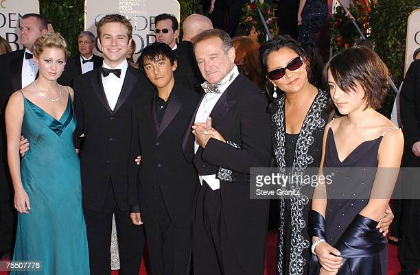 Robin Williams and family at the Beverly Hilton Hotel in Los Angeles California