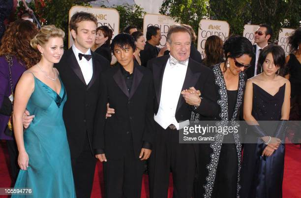 Robin Williams and family during The 62nd Annual Golden Globe Awards Arrivals at Beverly Hilton Hotel in Los Angeles California United States