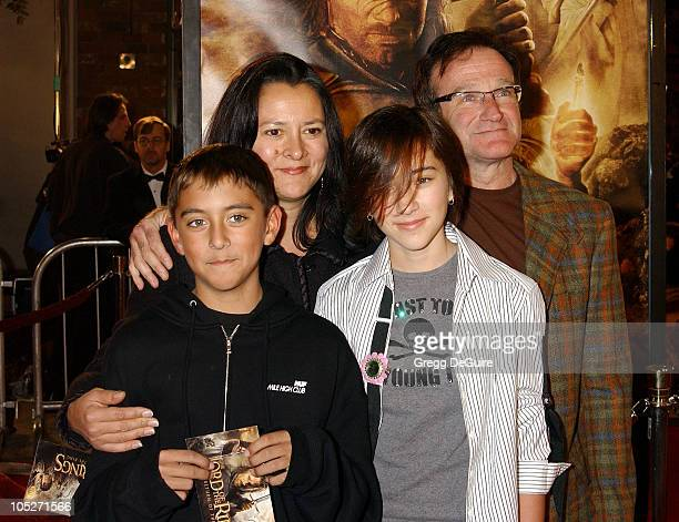 Robin Williams and family during 'The Lord Of The RingsThe Return Of The King' Los Angeles Premiere at Mann Village Theatre in Westwood California...