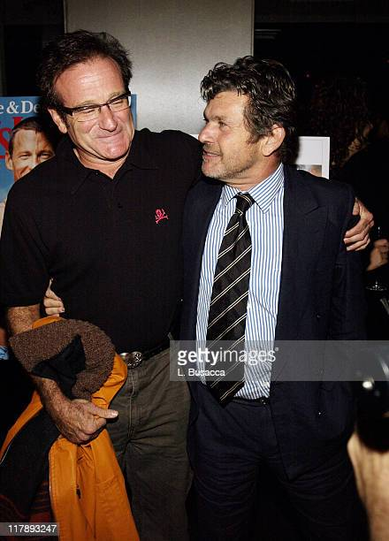 """Robin Williams and Jann Wenner during Men's Journal Celebrates Lance Armstrong's New Book """"Every Second Counts"""" at The Whiskey, W Hotel in New York..."""