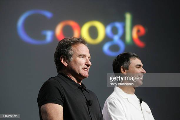 Robin Williams and Larry Page cofounder of Google