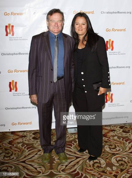 Robin Williams and Marsha Garces Williams during 3rd Annual Los Angeles Gala for the Christopher and Dana Reeve Foundation at Century Plaza Hotel in...
