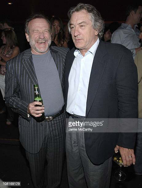 Robin Williams and Robert De Niro during House Of D New York Premiere After Party at Aer at Aer in New York City New York United States