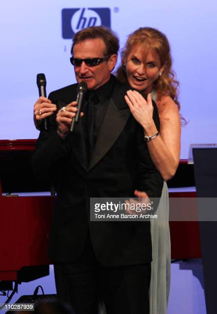 Robin Williams and Sarah Ferguson during amfAR's Cinema Against AIDS Benefit in Cannes, Presented by Bold Films, Palisades Pictures and The Weinstein...