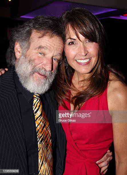 Robin Williams and Susan Schneider pose at the Opening Night After Party for Bengal Tiger at the Baghdad Zoo on Broadway at Espace on March 31 2011...