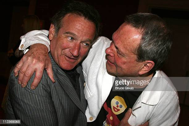 """Robin Williams and Terry Gilliam during Opening Night For """"Spamalot"""" At The Wynn Las Vegas - Arrivals at Wynn Hotel & Casino in Las Vegas, Nevada,..."""