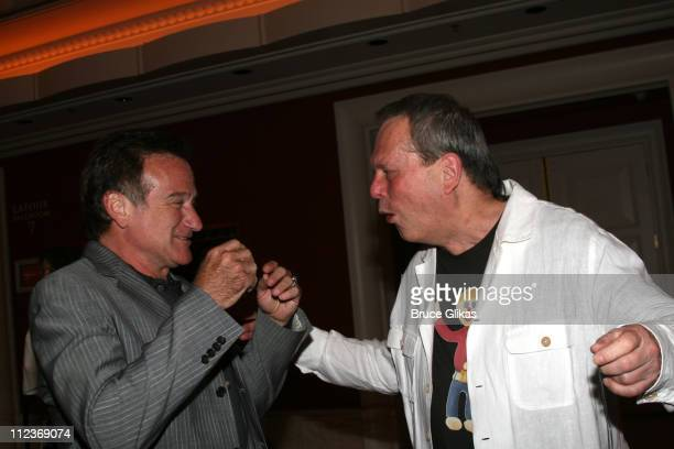 Robin Williams and Terry Gilliam during Opening Night For 'Spamalot' At The Wynn Las Vegas Arrivals at Wynn Hotel Casino in Las Vegas Nevada United...