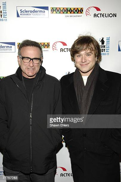 Robin Williams and Zachary Williams attend Bob Saget Caryn Jeff Zucker Host The NY Comedy Festival Event 'Cool ComedyHot Cuisine An Evening to...