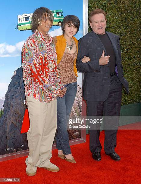Robin Williams daughter Zelda and son Cody during 'RV' Los Angeles Premiere Arrivals at Mann Village Theatre in Westwood California United States