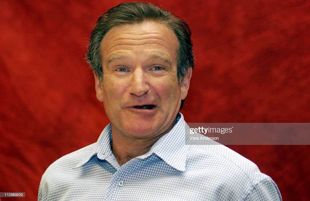Robin Williams during 'One Hour Photo' Press Conference with Robin Williams and Michael Vartan at Park Hyatt Hotel in Century City, California, United States.