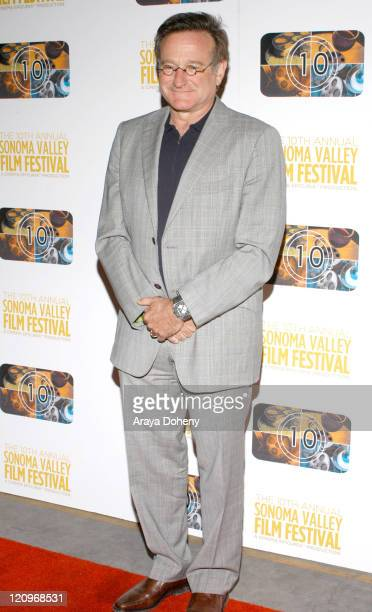 Robin Williams during The 10th Annual Sonoma Valley Film Festival Presents a Tribute to Pixar's John Lasseter Red Carpet and After Party at Cline...