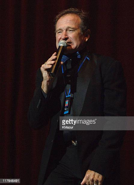 """Robin Williams during The Andre Agassi Charitable Foundation's 10th Annual """"Grand Slam for Children"""" Fundraiser - Dinner and Auction at MGM Garden..."""