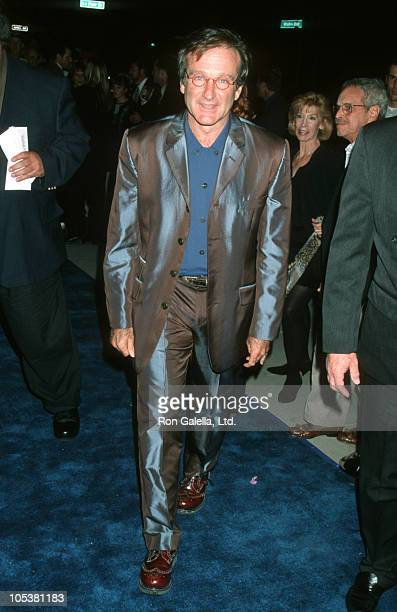 """Robin Williams during """"What Dreams May Come"""" Los Angeles Premiere in Beverly Hills, California, United States."""