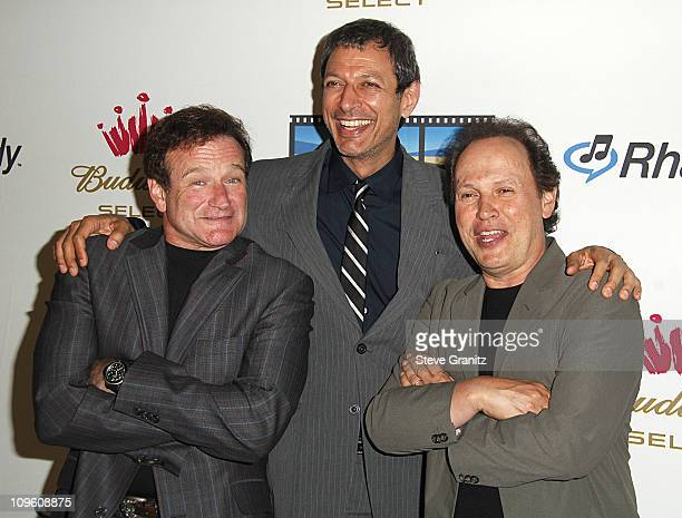 Robin Williams Jeff Goldblum and Billy Crystal during Kevin Spacey Announces The Launch of The New Triggerstreetcom and Their Latest Venture With...