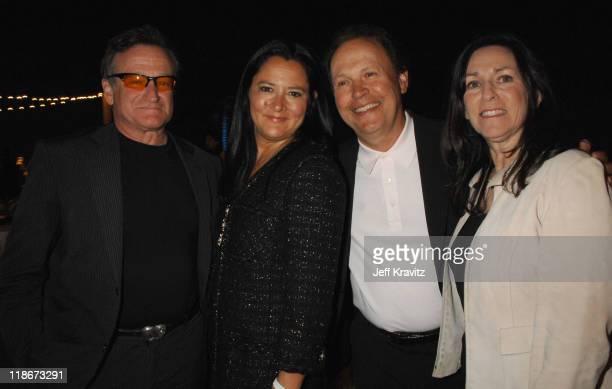 Robin Williams, Marsha Garces Williams, Billy Crystal and Janice Crystal