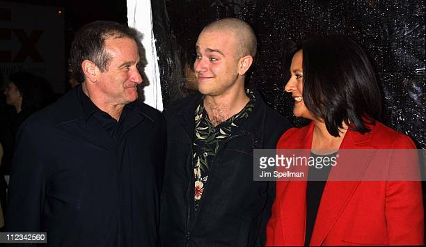 Robin Williams son Zak wife Marsha during 'Death To Smoochy' Premiere at Ziegfeld Theatre in New York City New York United States