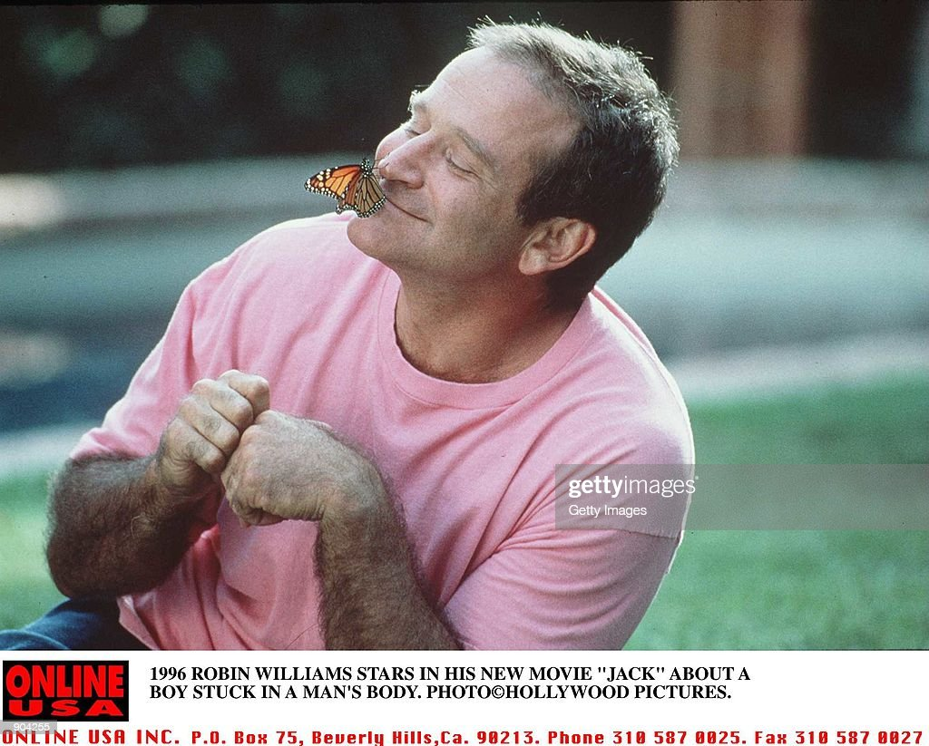 "1996 Robin Williams stars in his new movie ""Jack"" : News Photo"