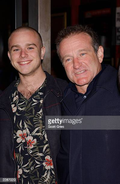 Robin Williams with his son Zack arrive at the premiere of Death To Smoochy at the Ziegfeld Theater in New York City 3/26/02 Photo by Scott...