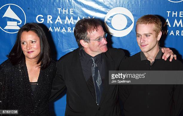 Robin Williams with wife Marsha and son