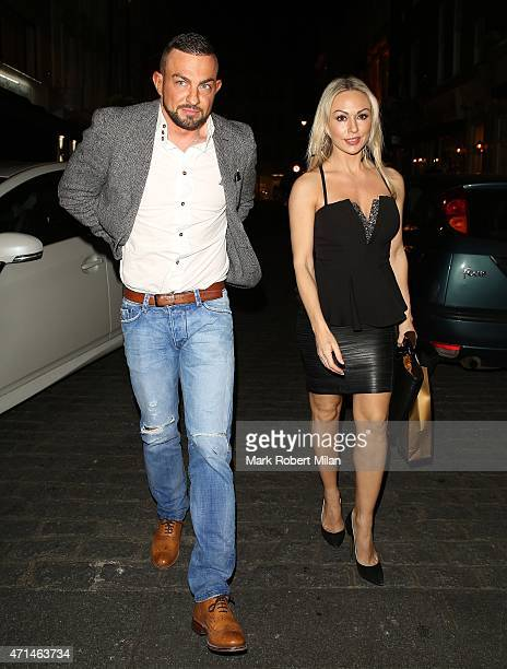 Robin Windsor and Kristina Rihanoff attending the Hot Gossip launch party at Gigi's on April 28 2015 in London England