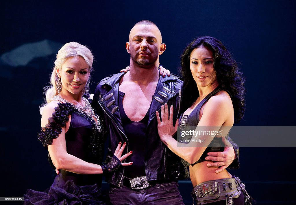 Robin Windsor, Kristina Rihanoff and Karen Hauer perform during a photocall for 'Burn The Floor' at Shaftesbury Theatre on March 7, 2013 in London, England.