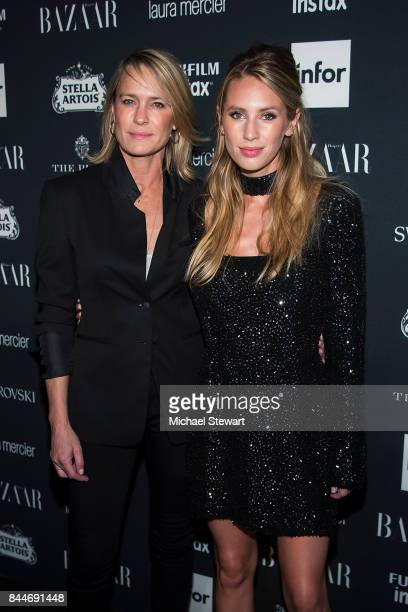 Robin Wright and Dylan Penn attend 2017 Harper's Bazaar Icons at The Plaza Hotel on September 8 2017 in New York City