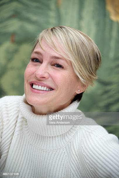 "Robin Wright at the ""House Of Cards"" Press Conference at The London Hotel on December 5, 2014 in New York City."
