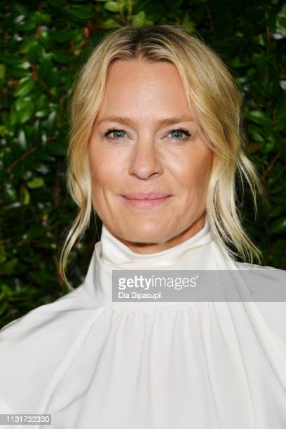 Robin Wright attends Chanel And Charles Finch Pre-Oscar Awards Dinner At The Polo Lounge in Beverly Hills on February 23, 2019 in Beverly Hills,...