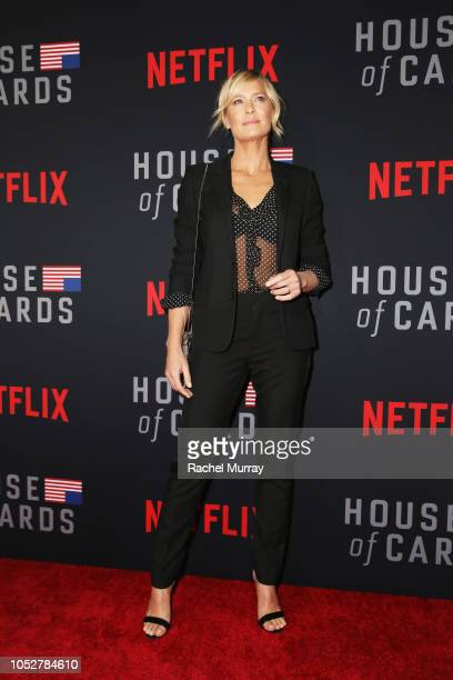 Robin Wright attends House of Cards Season 6 World Premiere on October 22 2018 in Los Angeles California