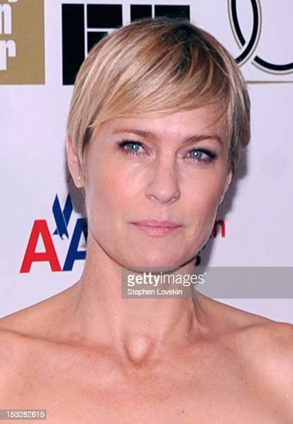 Robin Wright attends the 25th anniversary screening cast reunion of The Princess Bride during the 50th New York Film Festival at Alice Tully Hall on...