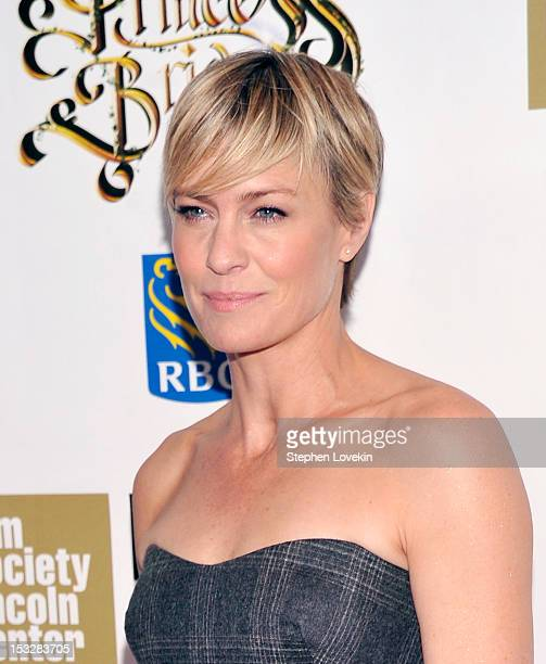 Robin Wright attends the 25th anniversary screening cast reunion of 'The Princess Bride' during the 50th New York Film Festival at Alice Tully Hall...