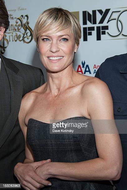 """Robin Wright attends the 25th Anniversary Screening & Cast Reunion Of """"The Princess Bride"""" during the 50th annual New York Film Festival at Alice..."""