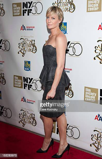 Robin Wright attends the 25th Anniversary Screening Cast Reunion Of The Princess Bride during the 50th annual New York Film Festival at Alice Tully...