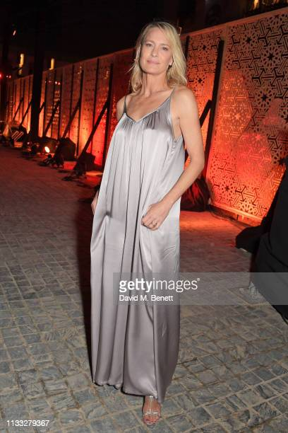 Robin Wright attends the Fashion Trust Arabia Prize awards ceremony on March 28 2019 in Doha Qatar