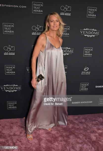 Robin Wright attends the Fashion Trust Arabia Prize awards ceremony on March 28, 2019 in Doha, Qatar.