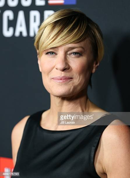 """Robin Wright attends the """"House Of Cards"""" season 2 special screening held at Directors Guild Of America on February 13, 2014 in Los Angeles,..."""