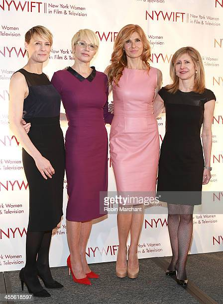 Robin Wright Ellen Barkin Connie Britton and Frances Berwick attend New York Women In Film And Television's 33rd Annual Muse Awards at New York...