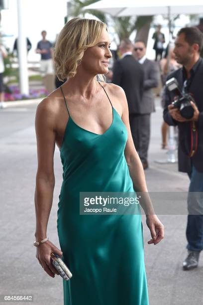 Robin Wright is spotted at Hotel Martinez during the 70th annual Cannes Film Festival at on May 18 2017 in Cannes France