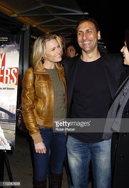 Robin Wright Penn and Director Jeff Stanzler during Sorry Haters New York City Premiere Arrivals at The IFC Center in New York New York United States