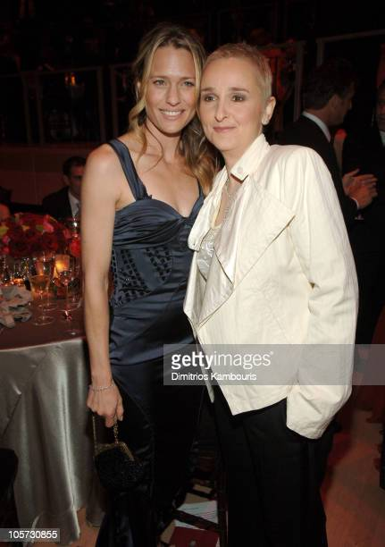 Robin Wright Penn and Melissa Etheridge during Time Magazine's 100 Most Influential People Celebration Dinner and Show at Jazz at Lincoln Center in...