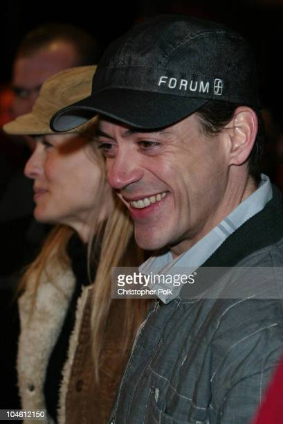 Robin Wright Penn and Robert Downey Jr during 2003 Sundance Film Festival 'The Singing Detective' Premiere at Eccles in Sundance UT United States