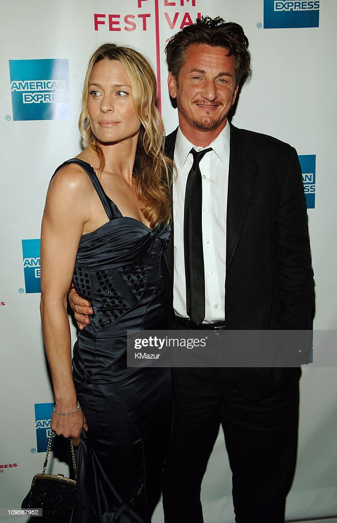 Robin Wright Penn and Sean Penn during 4th Annual Tribeca Film Festival - 'The Interpreter' Premiere - Inside Arrivals at Ziegfeld Theatre in New York City, New York, United States.