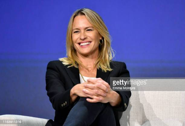 "Robin Wright speaks onstage at the Netflix ""House of Cards"" FYSEE Event at Raleigh Studios on June 04, 2019 in Los Angeles, California."