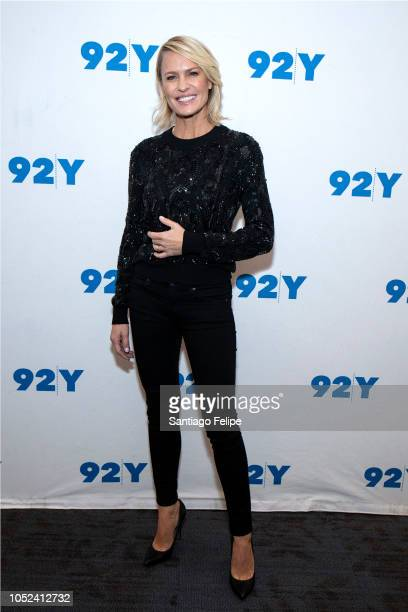 Robin Wright visits 92nd Street Y on October 17, 2018 in New York City.