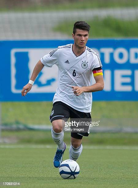 Robin Yalcin of Germany during the Under 19 elite round match between U19 Netherlands and U19 Germany at Notodden Stadium on June 5 2013 in Notodden...